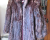 VINTAGE BEAVER FUR 1940s Coat Excellent Condition Size S Small 2-4-6 Lined