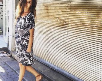 Short over size dress \ Summer dress \ Short sleeves dress