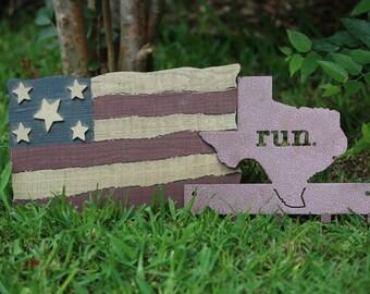 Medal Rack - Run Texas Medal Hanger   Medal Display  Metal Art  