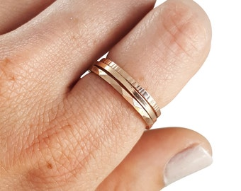 Stacking Rings Rose Gold Filled