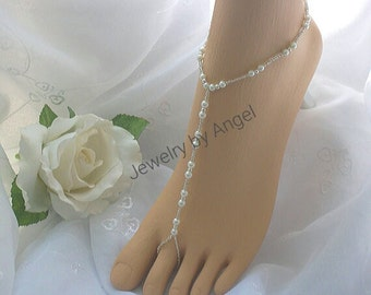 Pearl Bridal Foot Jewelry Barefoot Sandals