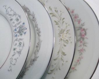 Vintage Mismatched China Dessert / Bread Plates - Set of 4