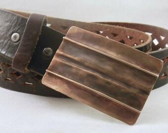 Brass Form Folded Belt Buckle