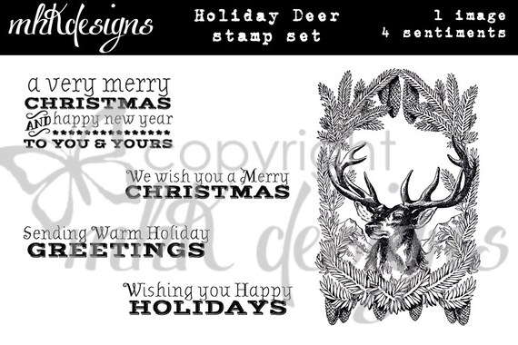 Holiday Deer Digital Stamp Set