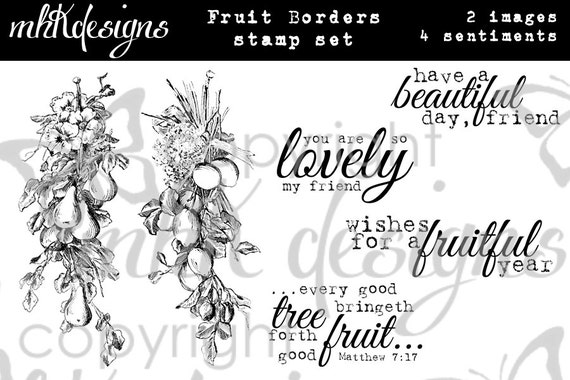 Fruit Borders Digital Stamp Set