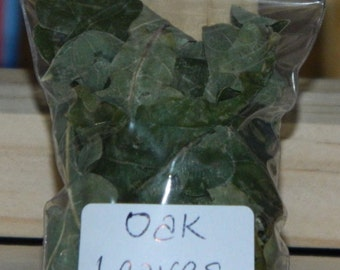 OAK LEAVES - Loose Magical & Healing Herb - Strength - Power - Prosperity - Spells and Incense – Magic - Wicca – Pagan