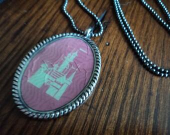 Vintage Disney ticket necklace