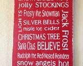 Christmas Subway Art Distressed Painted Sign