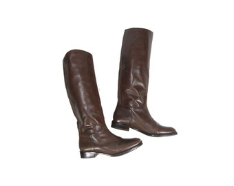 Size 6 Tall Brown Boots // Tall Leather Boots by Banana Republic // G364
