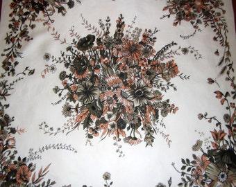 Bayron vintage scarf, flowers print
