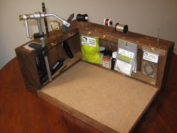 Wooden Fly Walnut Fly Tying Bench Prototype