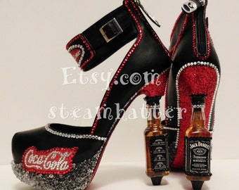 Jack and coke Jack daniels bling platform heels