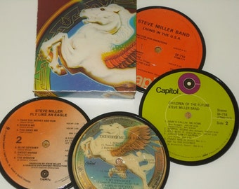 The STEVE MILLER Band coasters vinyl record coasters