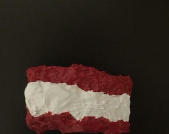 Tahiti Flag Painted Rock