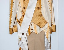 Men's VINTAGE Gold and White NAPOLEON Halloween COSTUME. Masquerade, 17th century