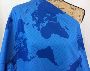 Worksheet. World map fabric  Etsy