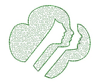 Girl scouts stipple fill embroidery design