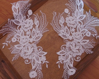 cord lace appliques by pairs CGDH039B
