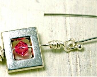 Flirty Pink Crystal Twirl Earring
