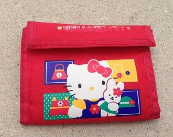 90s cute sanrio hello kitty red wallet