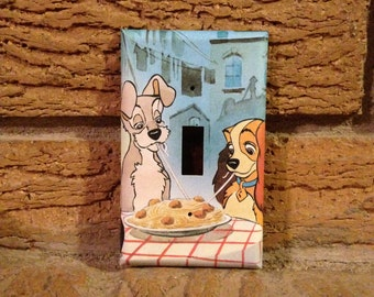 Lady and the Tramp Light Switch Cover, Lady and the Tramp Decoration, Lady and the Tramp Nursery, Lady and the Tramp Date