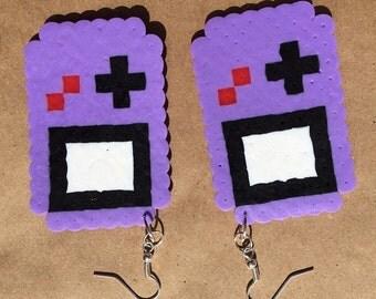 8 Bit Perler Gameboy Earrings