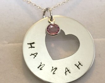 personalised  any name and colour  pendant necklace in gift box