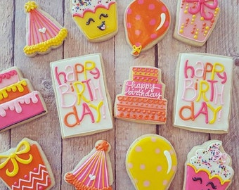 Girly Birthday Cookie Assortment