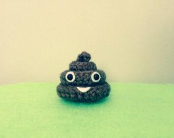 Crochet Amigurumi Pile of Poo Emoji, Soft Sculpture Poop Emoji!