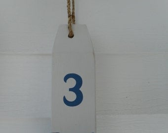 Handmade wooden nautical buoy, beach decor, nautical decor