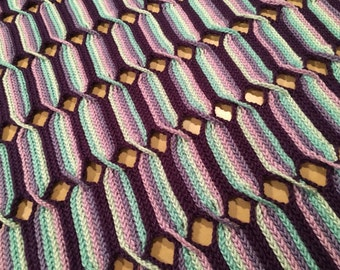 Crochet Pattern-Rainbow Swirl-Baby Blanket, Afghan, or Throw