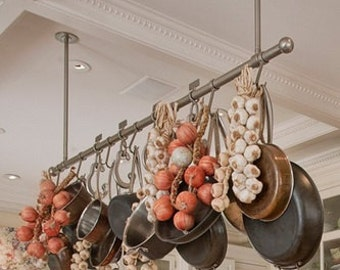 Hanging Industrial Pipe Pot Rack