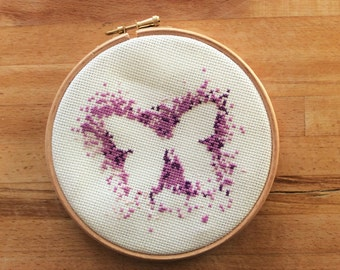 Modern Butterfly Cross Stitch Pattern / Download / Cross Stitch Pattern / Modern Cross Stitch Design / DMC / Butterfly