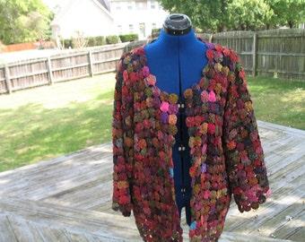 Vintage yoyo jacket pure silk free size