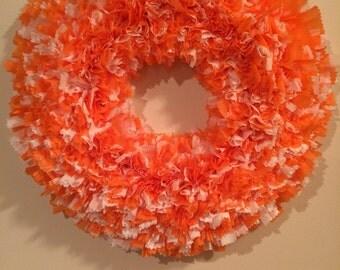 Tennessee Vols Wreath, UT Vols Wreath, University of Tennessee Wreath, Football Wreath