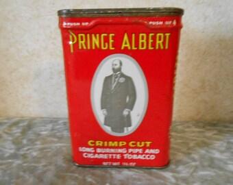 1960's Prince Albert Pipe & Cigarette Tobacco Tin
