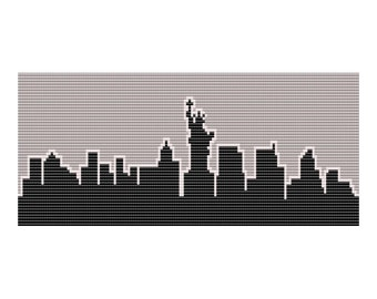 New York Skyline Loom Tapestry