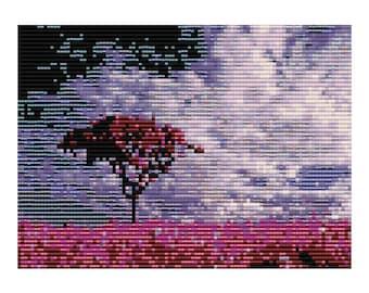 Purple Fields Loom Tapestry