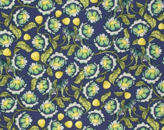 Midnight Lotus - Eden by Tula Pink - Free Spirit Fabrics - 1 yard