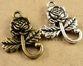 15pcs Sun flower Charms Vintage Alloy Charm Pendants Jewelry Findings Supplies