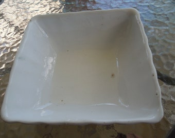 Antique Ironstone Bowl, AJ Wilkinson, England, Royal Ironstone, Plain White Bowl