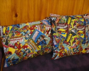 Marvel Superheros Hulk Spider-Man Wolverine Pillow Set