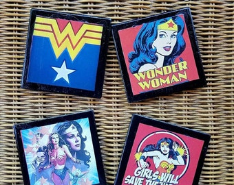 Wonder Woman ceramic Coaster set
