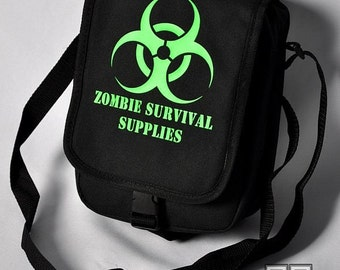 Cryoflesh Zombie Biohazard Cyberpunk Cybergoth Industrial Shoulder Bag