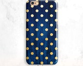 iPhone 6S Case, Gold Dots iPhone 5S Case, iPhone SE Case, iPhone 6 Plus, iPhone 7 Case, Polka Dots iPhone 6 Case, Gold Dots iPhone 5, 7 Plus