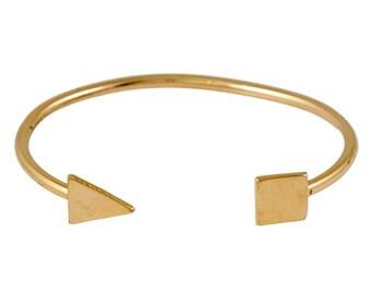 Gold Bracelet,Bangle Bracelet,Stacking Bangle,gold bangle,Adjustable Bracelet,gift for women,geometric jewelry - 21021