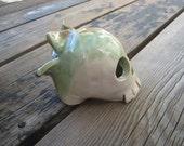 Monkey Skull Fish Cave - Aquarium Decoration - Ceramics and Pottery - Betta Tank Hide - Small Fish Tank Decorations - Fairy Garden Sculpture