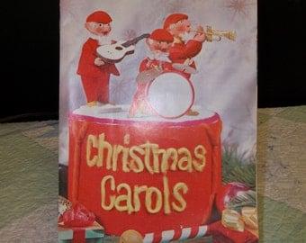 60% OFF!!! Vintage Christmas Carols Music Book, Paperback, C. Litho, ca 1974, S