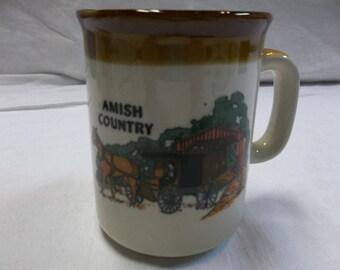 Vintage Amish Country Coffee Mug, S