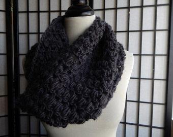 Slate Open Weave Cowl
